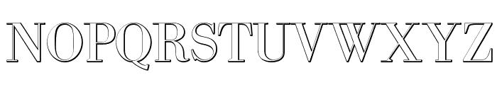 IntellectaBodoned Beveled Font UPPERCASE