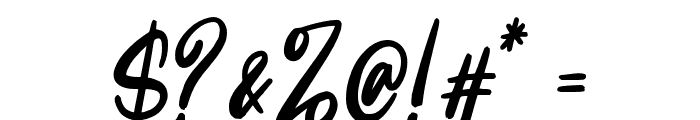 Intensity Font OTHER CHARS