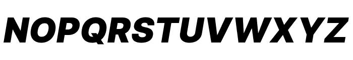 Inter Black Italic Font UPPERCASE