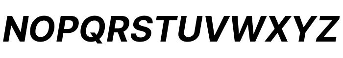 Inter Bold Italic Font UPPERCASE