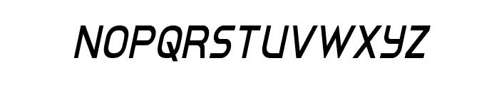 Inter-Bureau Condensed Italic Font UPPERCASE