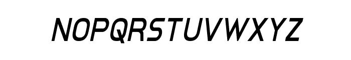Inter-Bureau Condensed Italic Font LOWERCASE