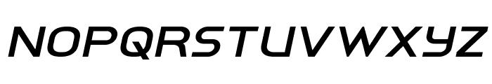 Inter-Bureau Expanded Italic Font UPPERCASE