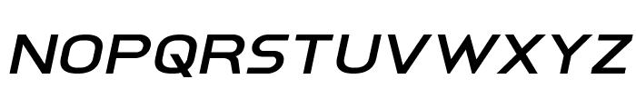 Inter-Bureau Expanded Italic Font LOWERCASE