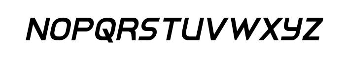 Inter-Bureau Semi-Bold Italic Font UPPERCASE