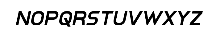 Inter-Bureau Semi-Bold Italic Font LOWERCASE