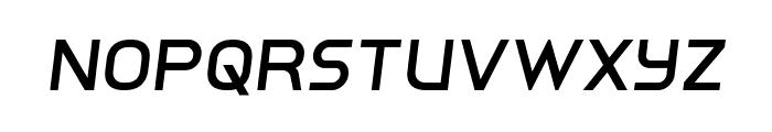 Inter-Bureau Semi-Italic Font UPPERCASE