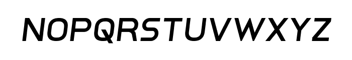 Inter-Bureau Semi-Italic Font LOWERCASE