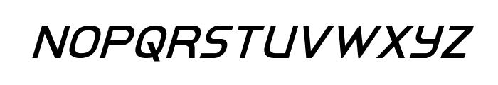 Inter-Bureau Super-Italic Font UPPERCASE
