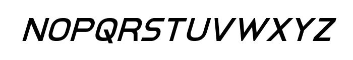 Inter-Bureau Super-Italic Font LOWERCASE