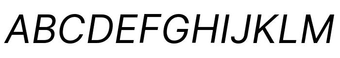 Inter Italic Font UPPERCASE