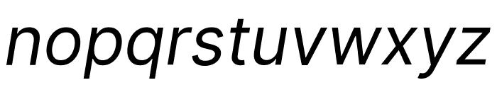 Inter Italic Font LOWERCASE