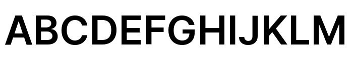 Inter Semi Bold Font UPPERCASE