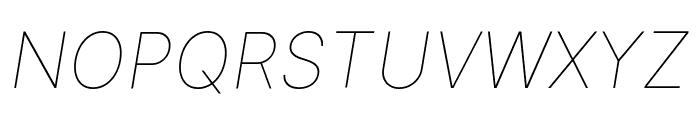 Inter Thin Italic BETA Font UPPERCASE
