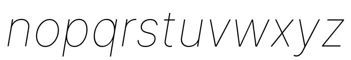 Inter Thin Italic BETA Font LOWERCASE