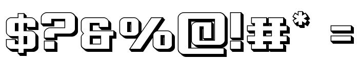 Interceptor 3D Font OTHER CHARS