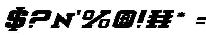 Interceptor Bold ExpItalic Font OTHER CHARS