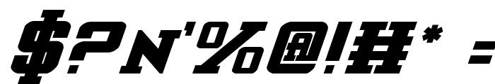 Interceptor Bold Italic Font OTHER CHARS