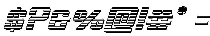 Interceptor Chrome Italic Font OTHER CHARS
