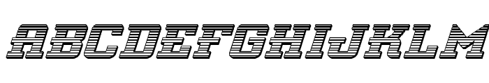 Interceptor Chrome Italic Font LOWERCASE