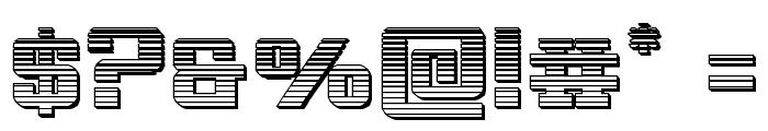 Interceptor Chrome Font OTHER CHARS