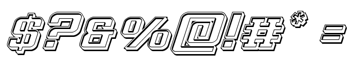 Interceptor Engraved Italic Font OTHER CHARS