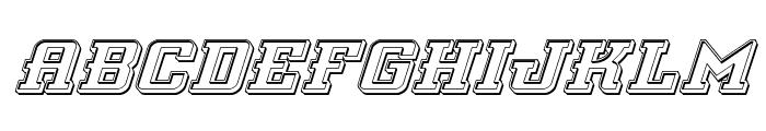 Interceptor Engraved Italic Font UPPERCASE