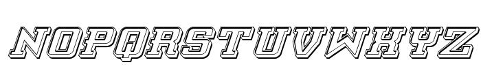 Interceptor Engraved Italic Font LOWERCASE