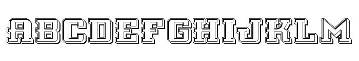 Interceptor Engraved Font UPPERCASE