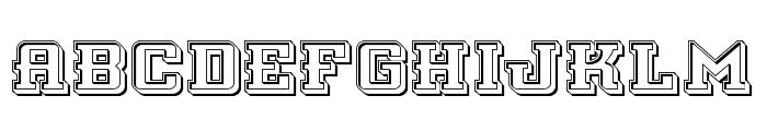 Interceptor Engraved Font LOWERCASE
