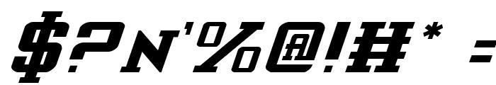 Interceptor Italic Font OTHER CHARS