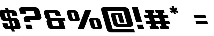 Interceptor Leftalic Font OTHER CHARS