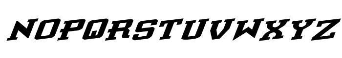Interceptor Rotalic Font UPPERCASE