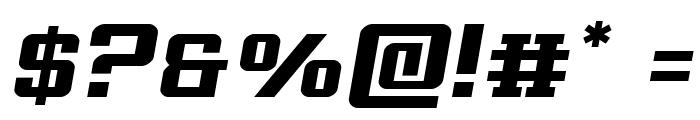 Interceptor Semi-Italic Font OTHER CHARS