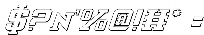 Interceptor Shadow Italic Font OTHER CHARS