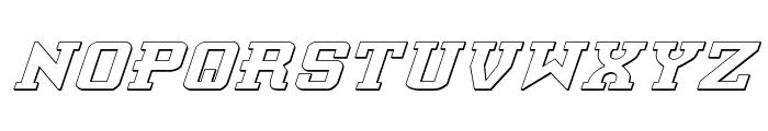 Interceptor Shadow Italic Font UPPERCASE