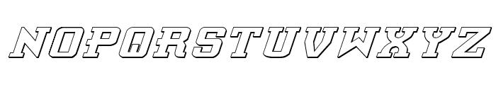Interceptor Shadow Italic Font LOWERCASE