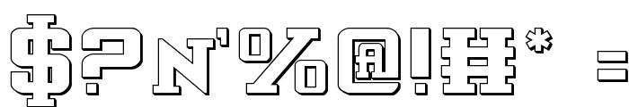 Interceptor Shadow Font OTHER CHARS