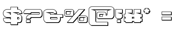 Interdiction 3D Regular Font OTHER CHARS