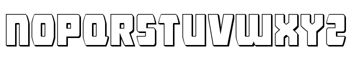 Intergalactic 3D Font UPPERCASE