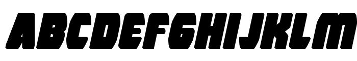 Intergalactic Block Italic Font LOWERCASE