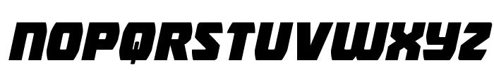 Intergalactic Expanded Italic Font LOWERCASE