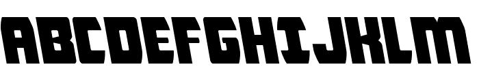 Intergalactic Leftalic Font UPPERCASE