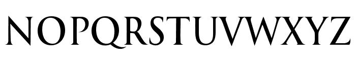 International Regular Font UPPERCASE