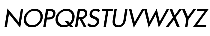 Intrepid Italic Font UPPERCASE