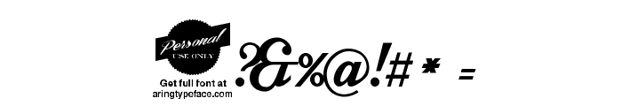 Intrique Script Personal Use Font OTHER CHARS