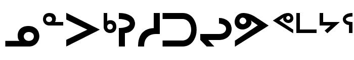 Inuktitut-Sri Regular Font UPPERCASE