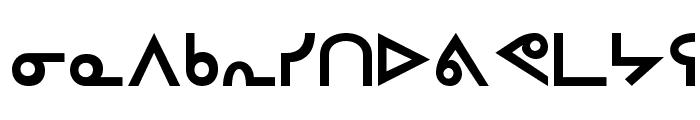 Inuktitut-Sri Regular Font LOWERCASE