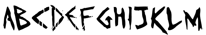 Invaders must die Font LOWERCASE