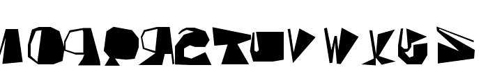 Inversed Script Font LOWERCASE